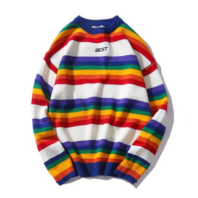 Rainbow Retro Sweater