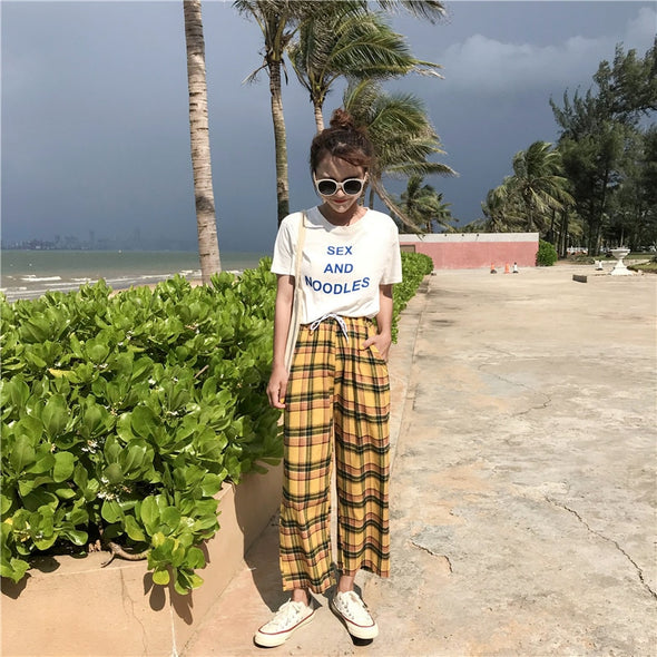 Sunflower Plaid Pants