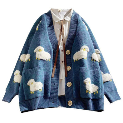 Sheepy Sweater Cardigan