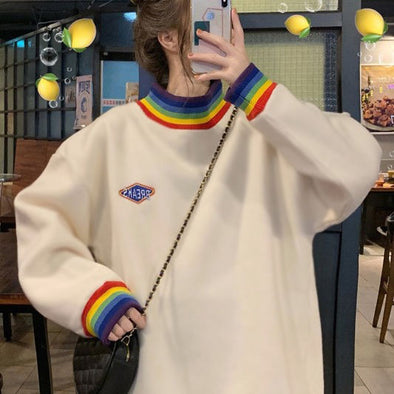 Rainbow Collar Sweatshirt