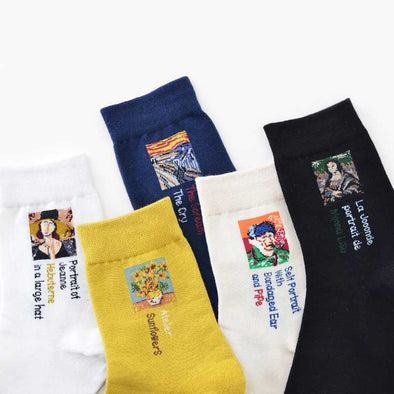 Famous Paintings Casual Socks