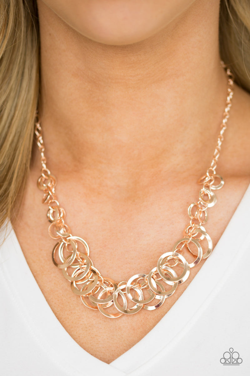 Paparazzi Accessories Royal Circus Rose Gold Necklace Earrings Kendra S Gallery Of Bling