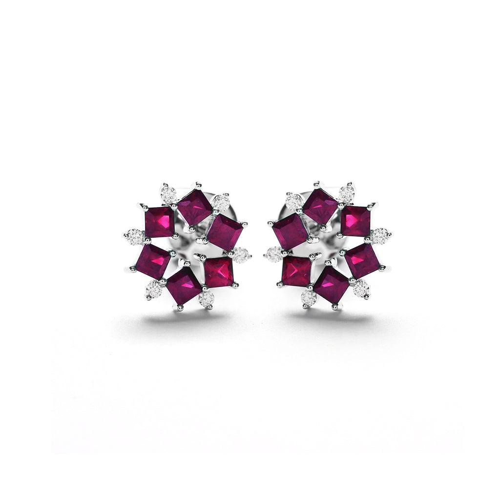 Chicory Diamond Earring With Ruby (P2006260015)