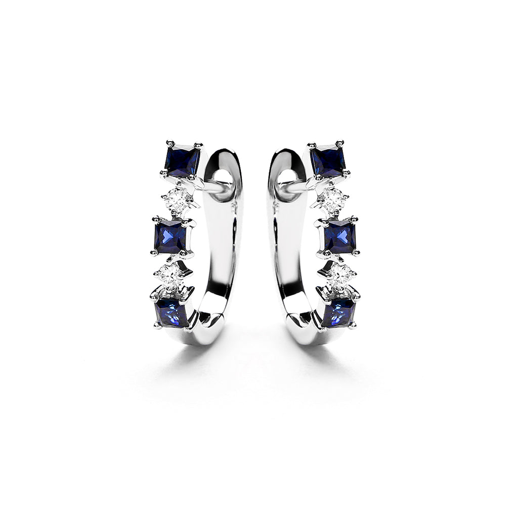 Coraline Diamond Earring With Blue Sapphire (P2005040021)