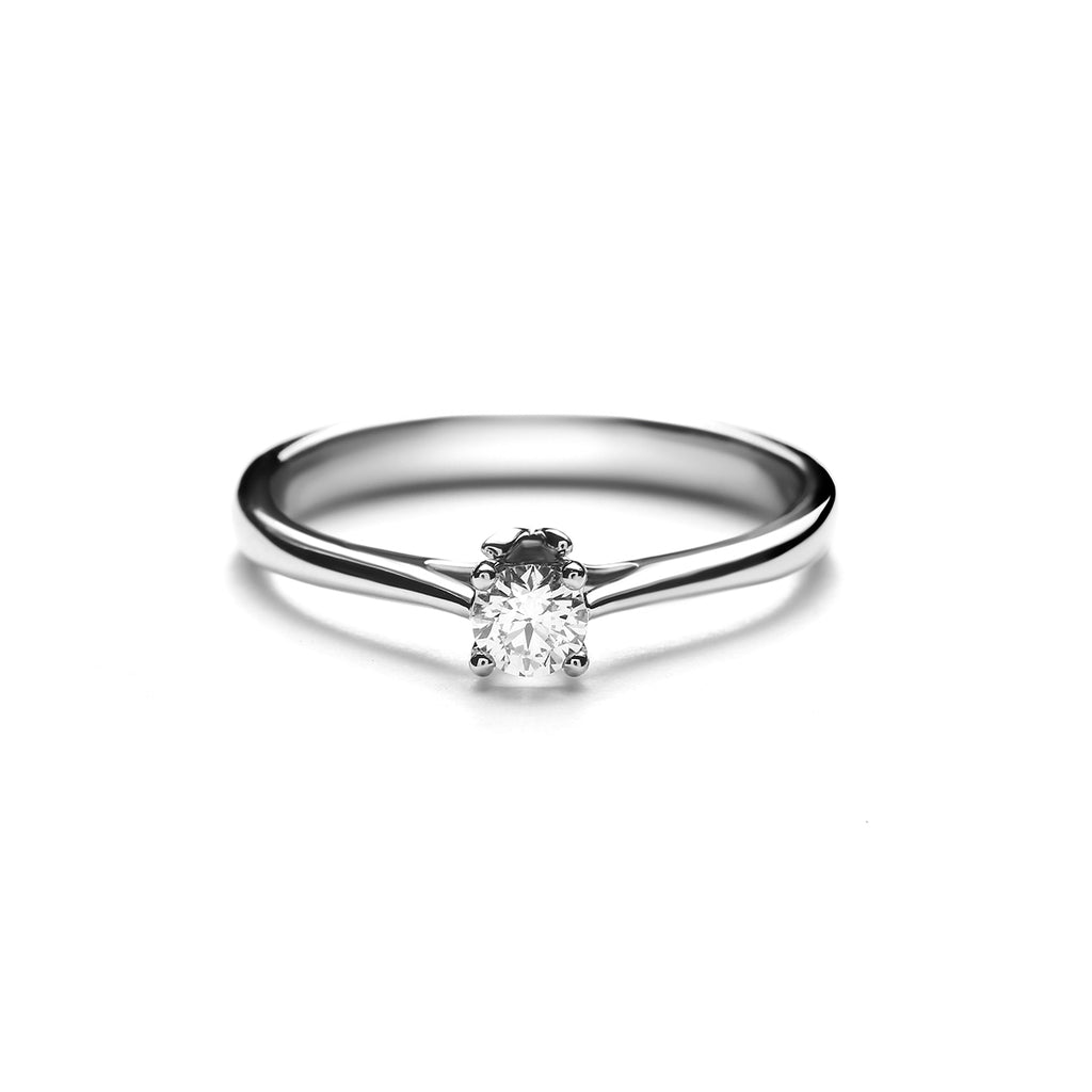 Delia Medium Platinum Diamond Ring (T2001290003)