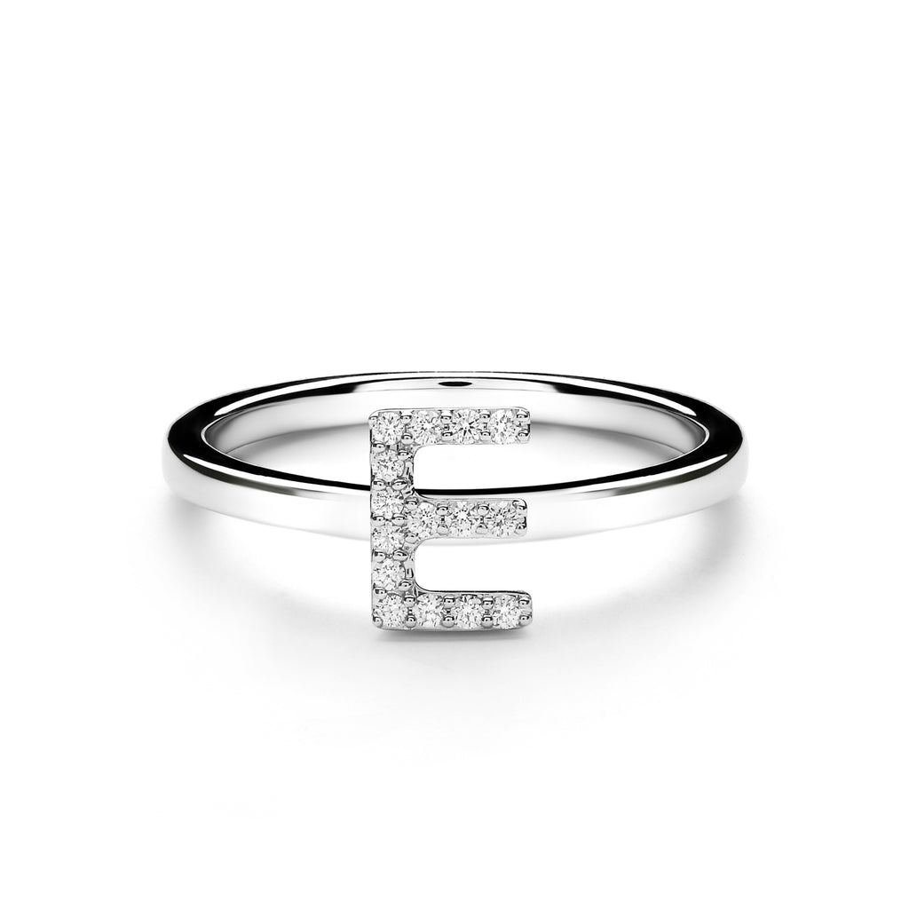 E Alphabet Diamond Ring (P1812100002)