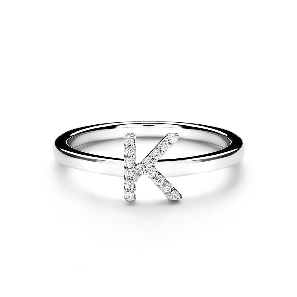 K Alphabet Diamond Ring (P1812100004)