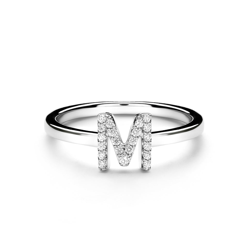 M Alphabet Diamond Ring (P1812100025)