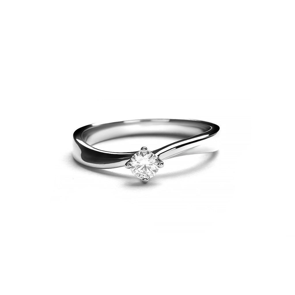 Morini Platinum Diamond Ring (T2003030022)
