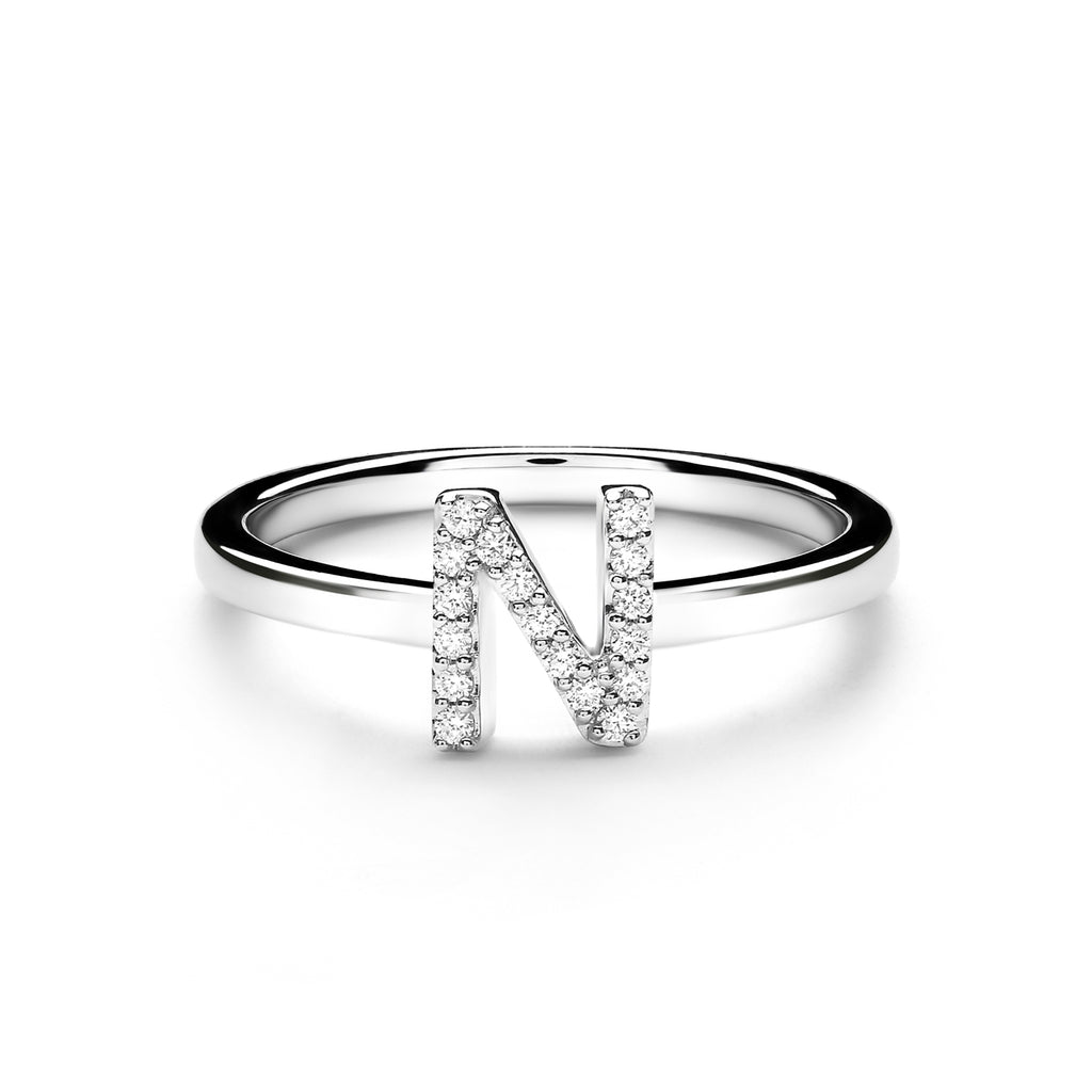 N Alphabet Diamond Ring (P1812100005)
