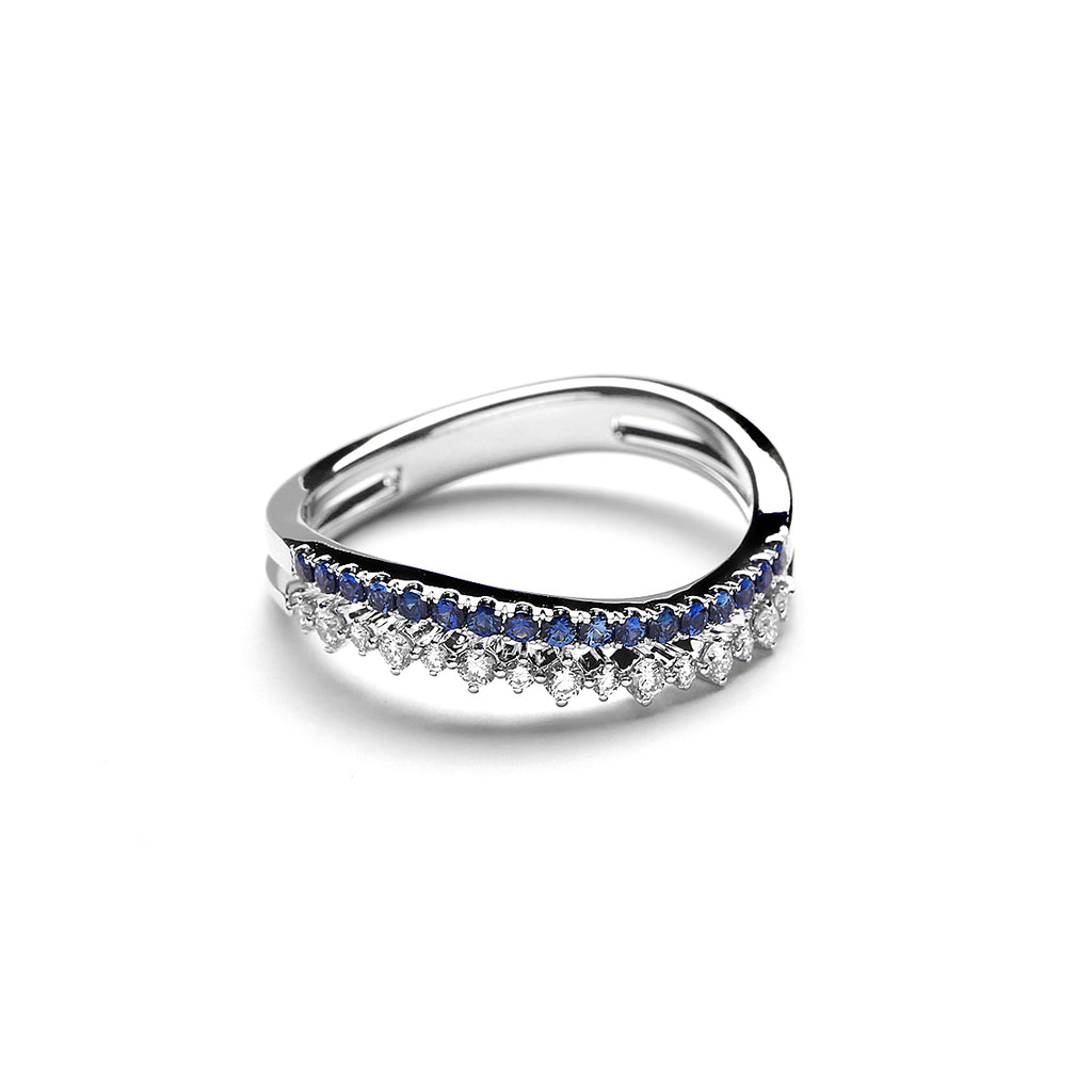 Waverly Diamond Ring With Blue Sapphire (P2005290020)
