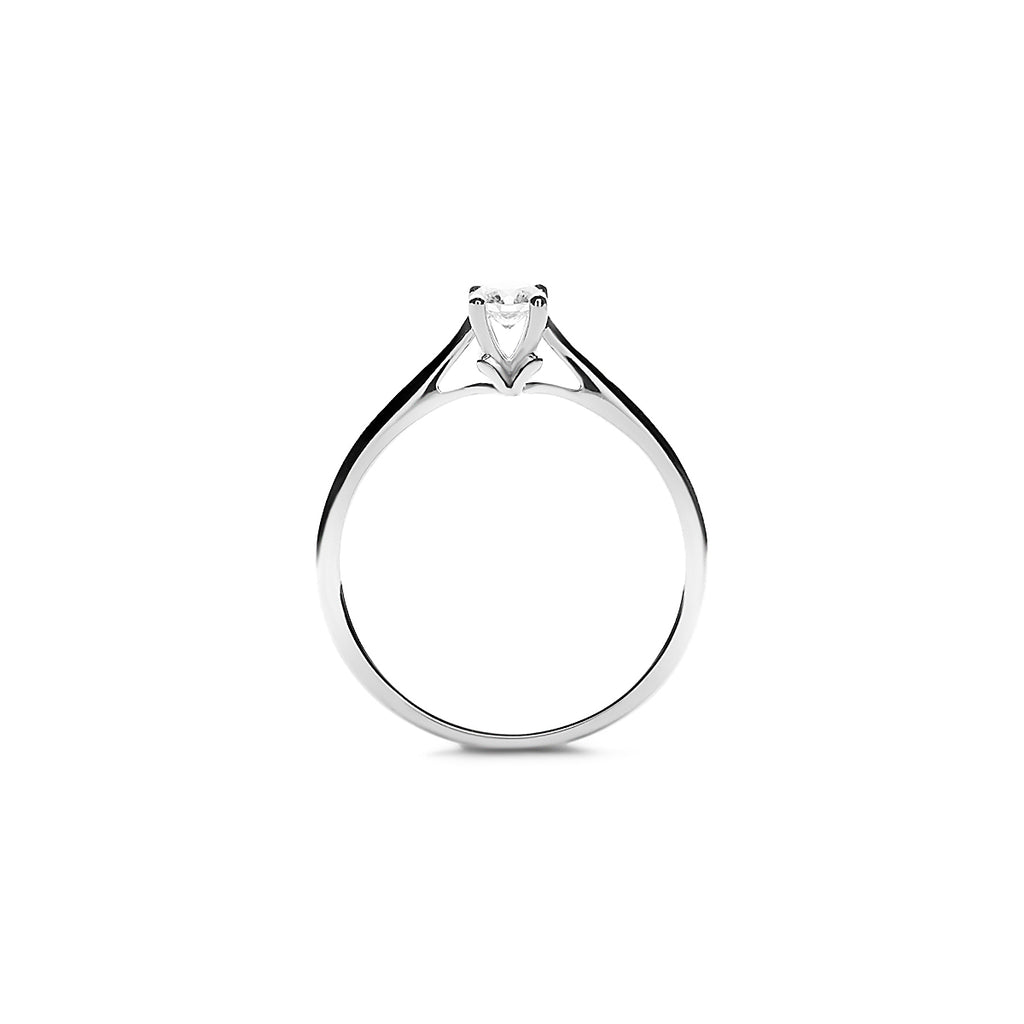 Delia Small Platinum Diamond Ring (T2001210002)