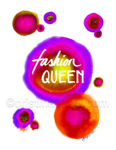 ART PRINT: 'Fashion Queen' Gumball Prints - 2 Colors