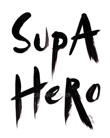 ART PRINT: 'Supa Hero'