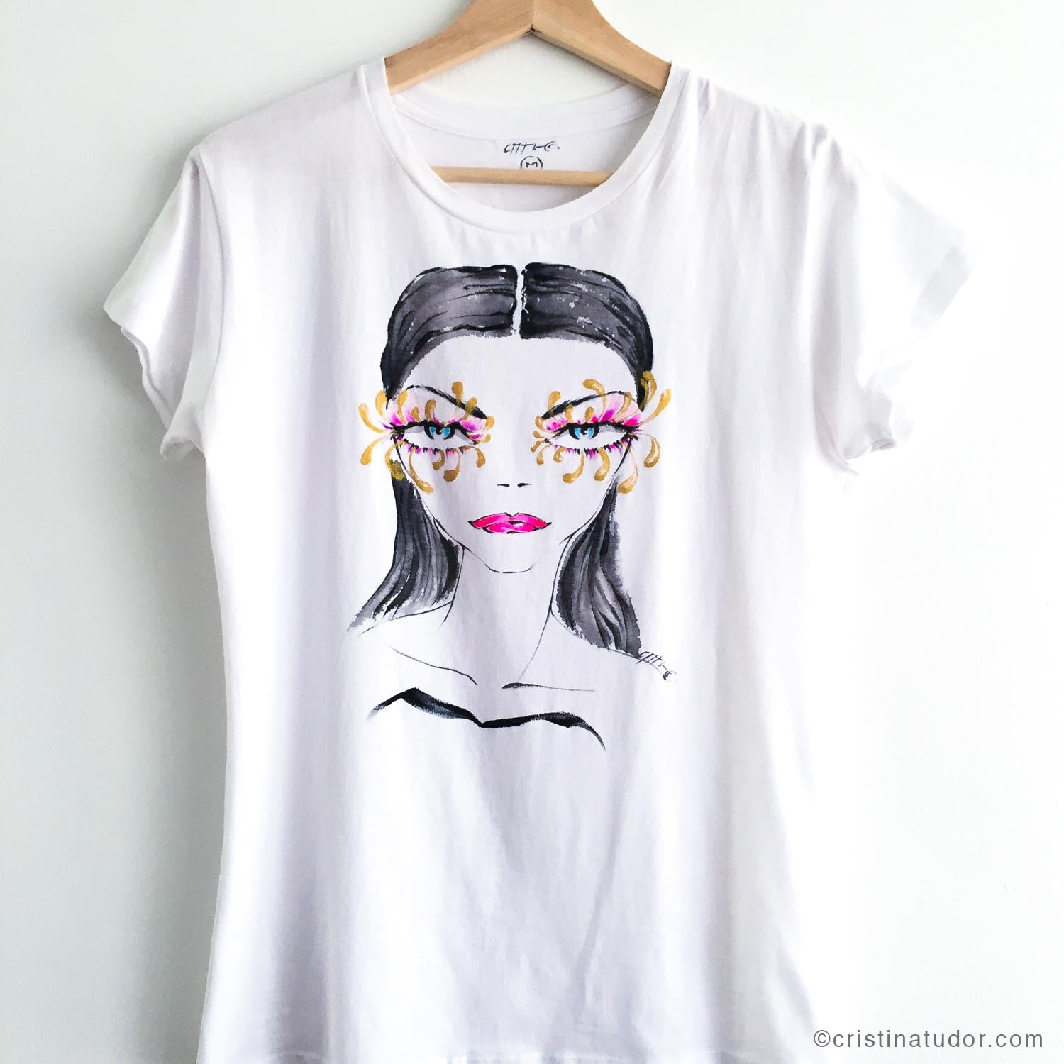 'Butterfly Eyes' Hand Painted T-shirt