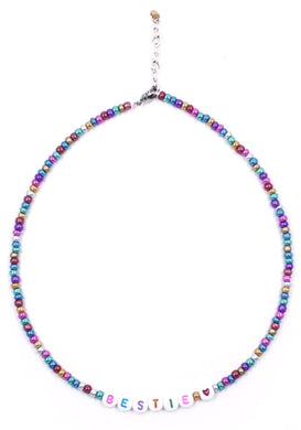 Bestie Beaded Necklace