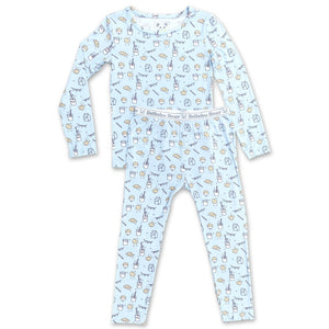 Milk and Cookies Two Piece Set / Blue
