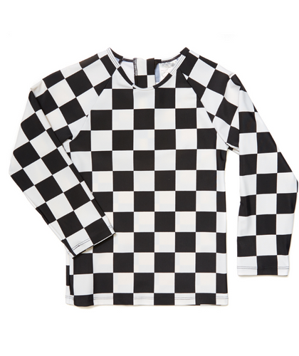 checkers swimshirt