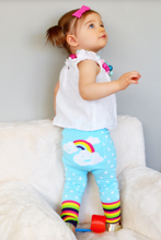 Load image into Gallery viewer, rainbow cloud leggings