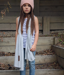 grey marle jersey scarf
