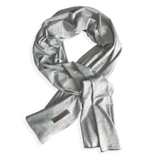 Load image into Gallery viewer, grey marle jersey scarf