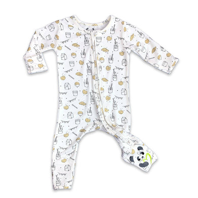 Milk and Cookies Convertible Footie / White