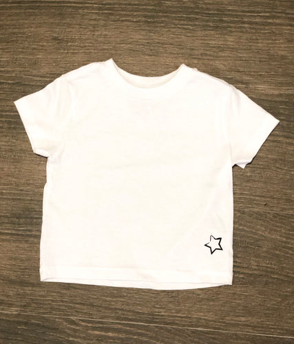 star basic tee white