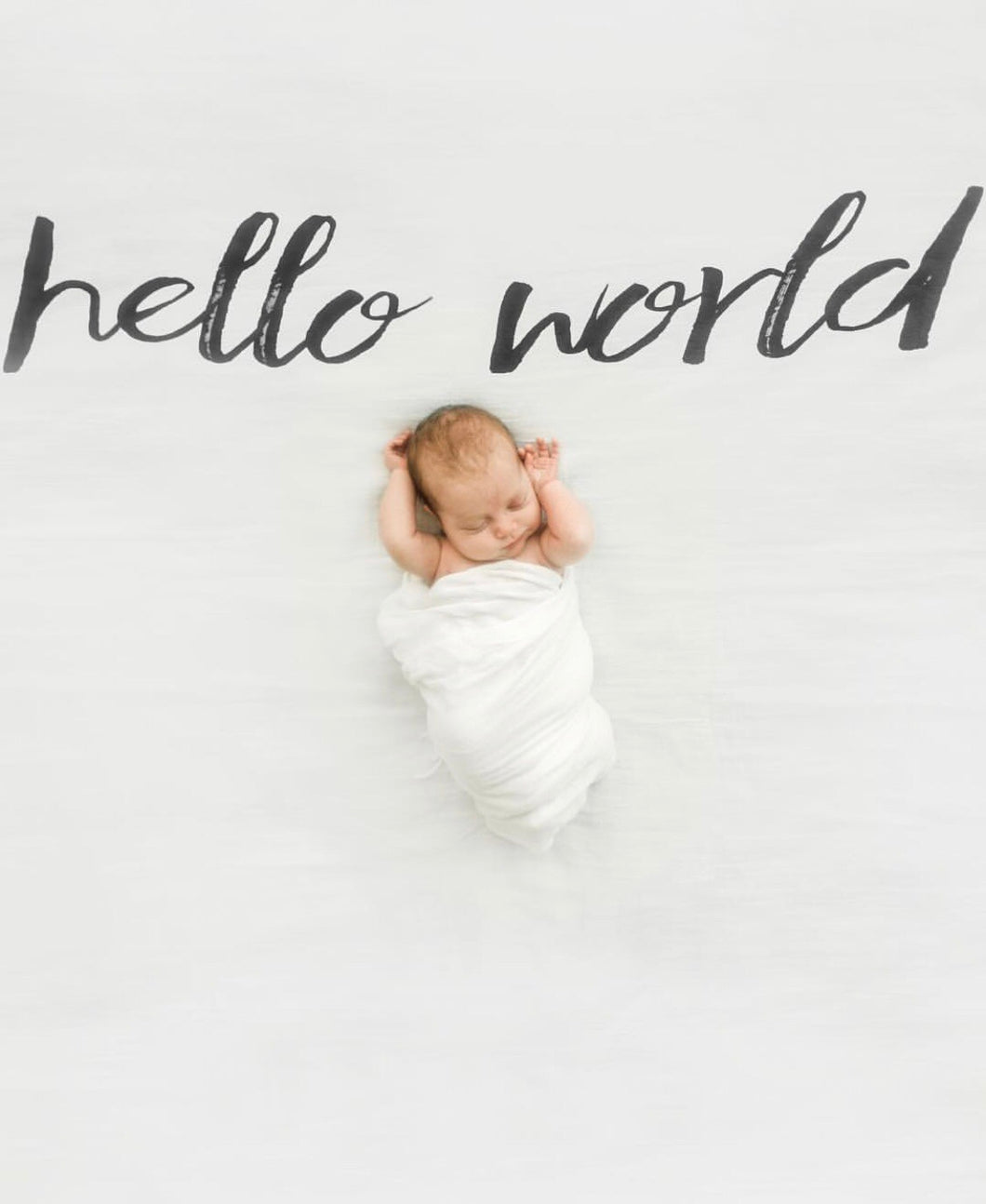 organic cotton swaddle hello world