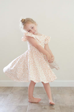 Olivia Dress in Pink Leopard