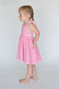 Rosita Dress in Bubblegum Stripe - Imperfect Sale