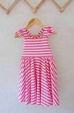 Load image into Gallery viewer, Rosita Dress in Bubblegum Stripe - Imperfect Sale