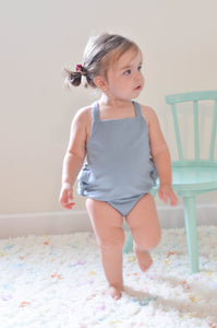 The Romper in Dusty Blue