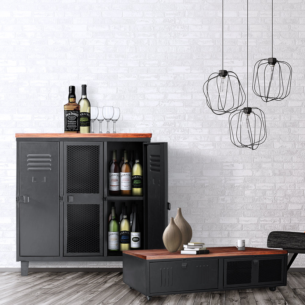 Combo 3: Mesa de Centro Rock Wood + Bar Rock Wood