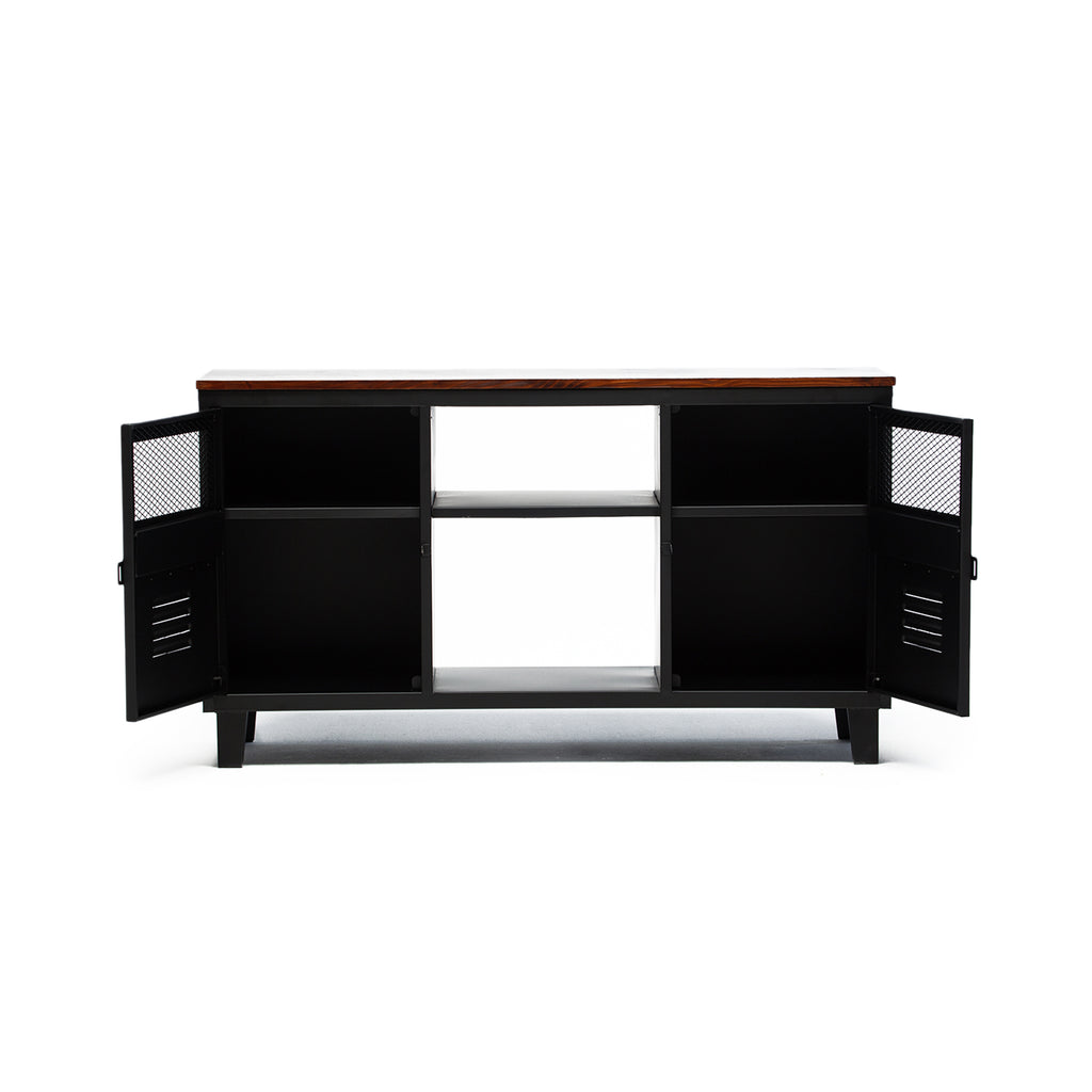 Rack TV Rock Wood Negro Mate