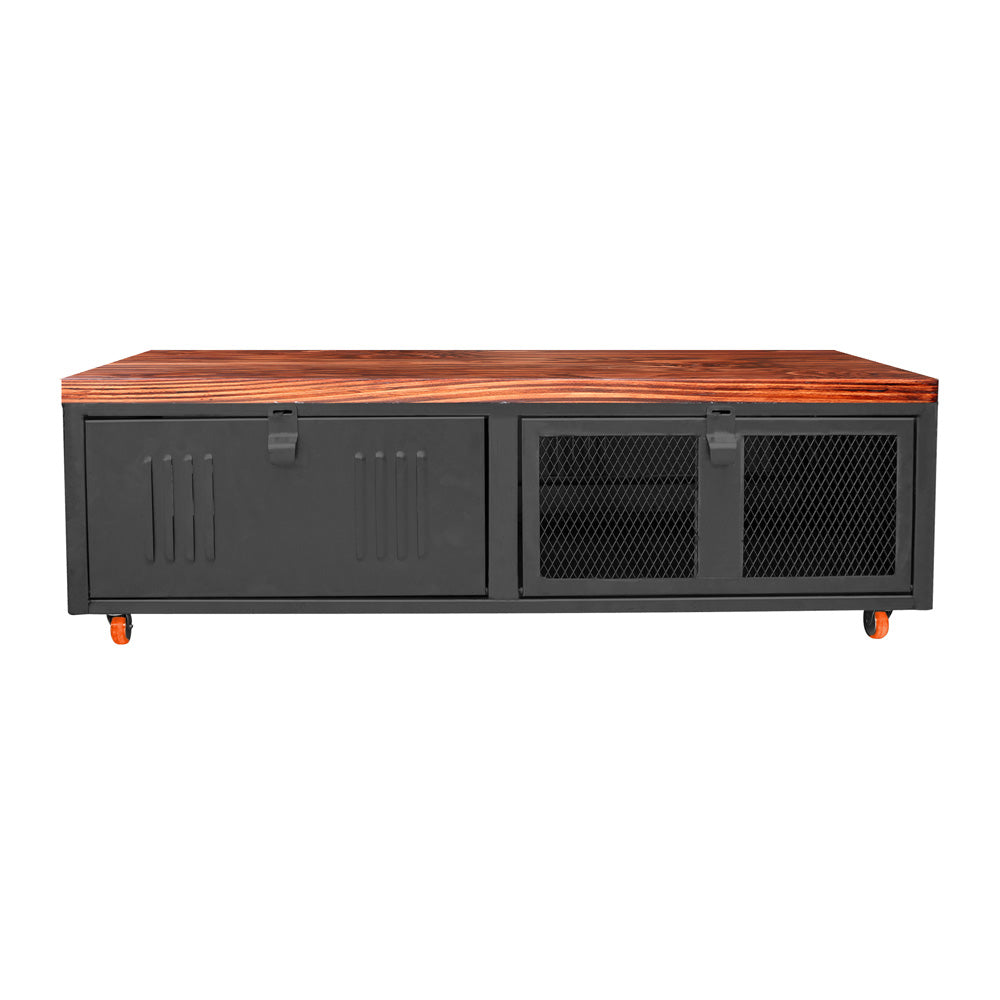 Mesa de Centro Rock Wood Negro Mate