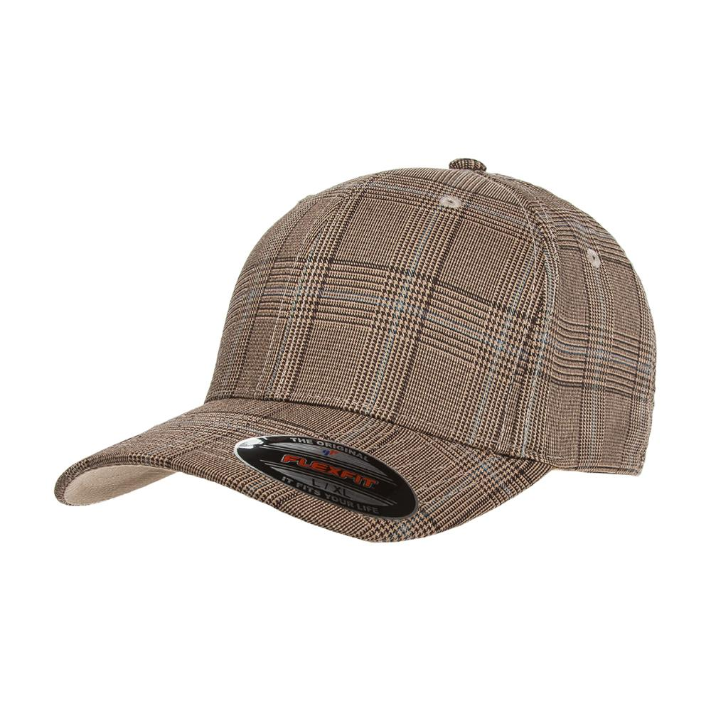 Flexfit - Baseball Check - Flexfit - Brown/Khaki