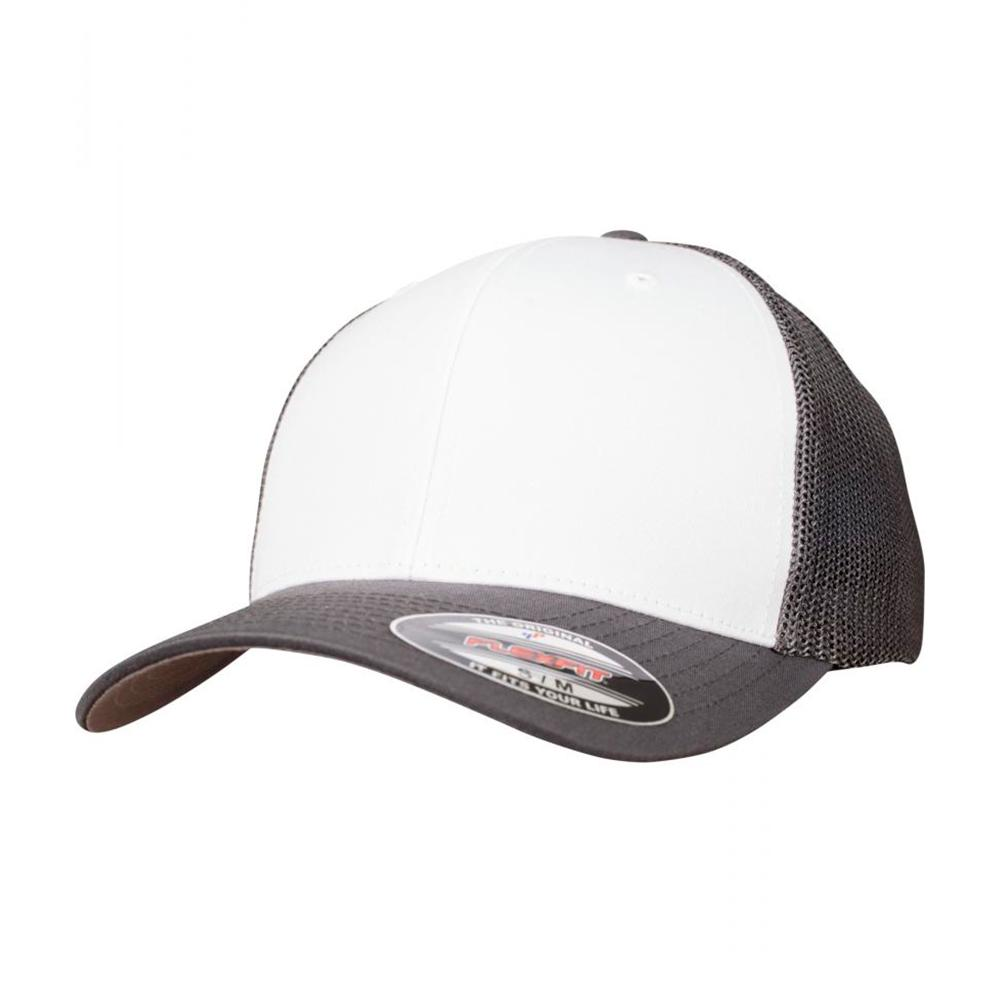 Flexfit - Mesh Colored Front - Flexfit - Dark Grey/White