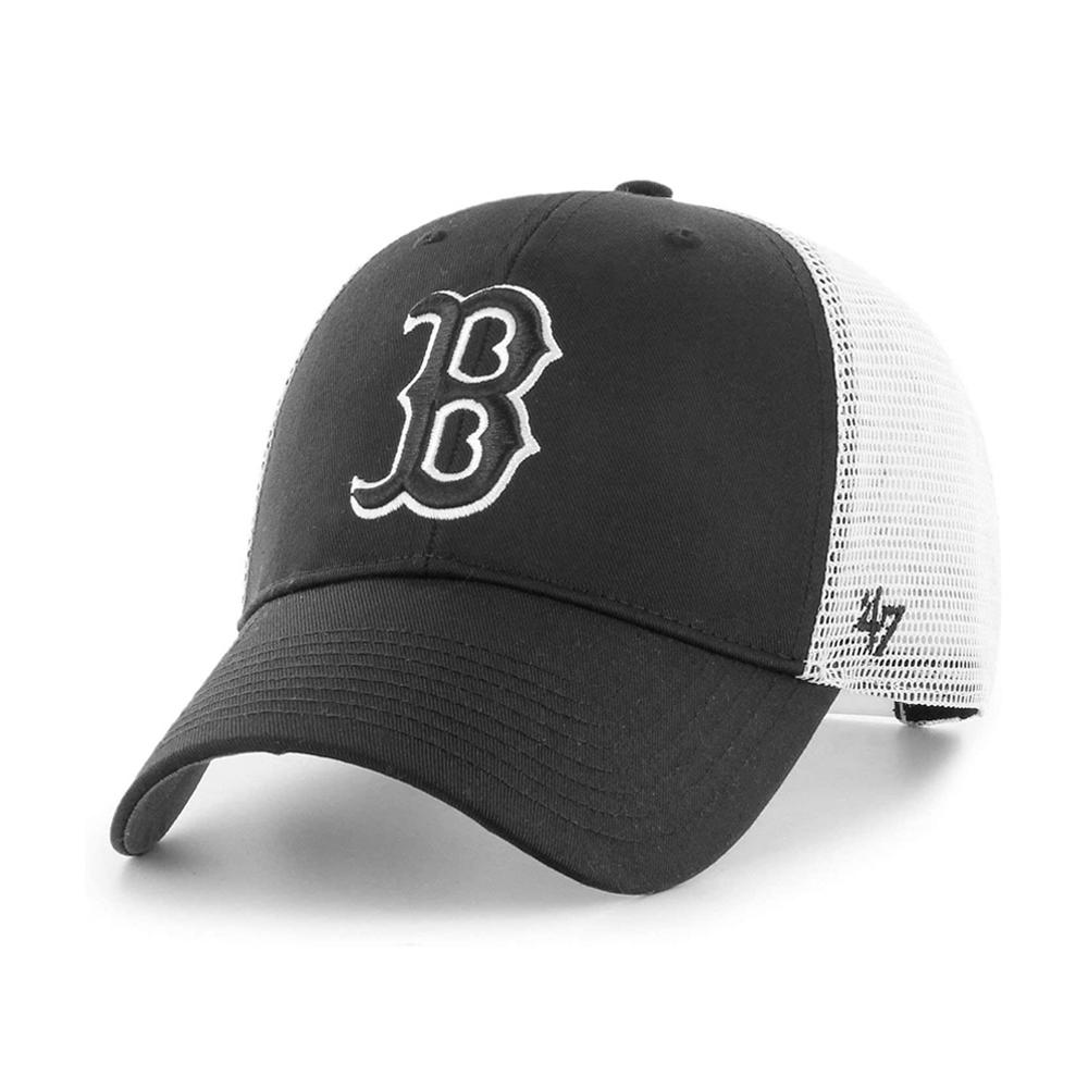 47 Brand - Boston Red Sox MVP Branson - Trucker/Snapback - Black/White