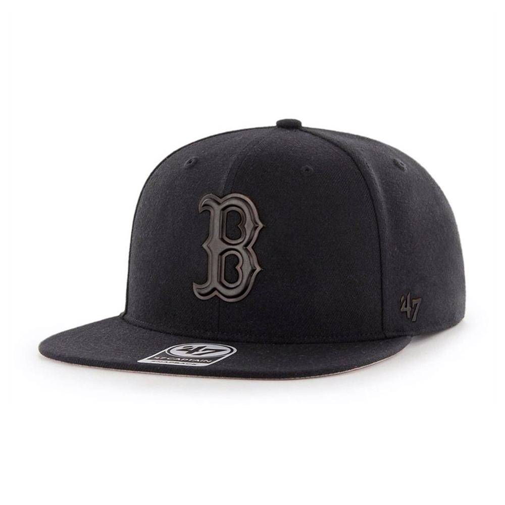 47 Brand - Boston Red Sox Matte Captain - Snapback - Black/Black