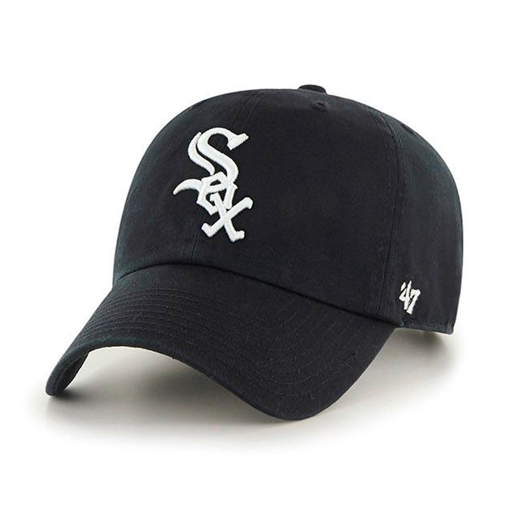 47 Brand - Chicago White Sox Clean Up - Adjustable - Black/White