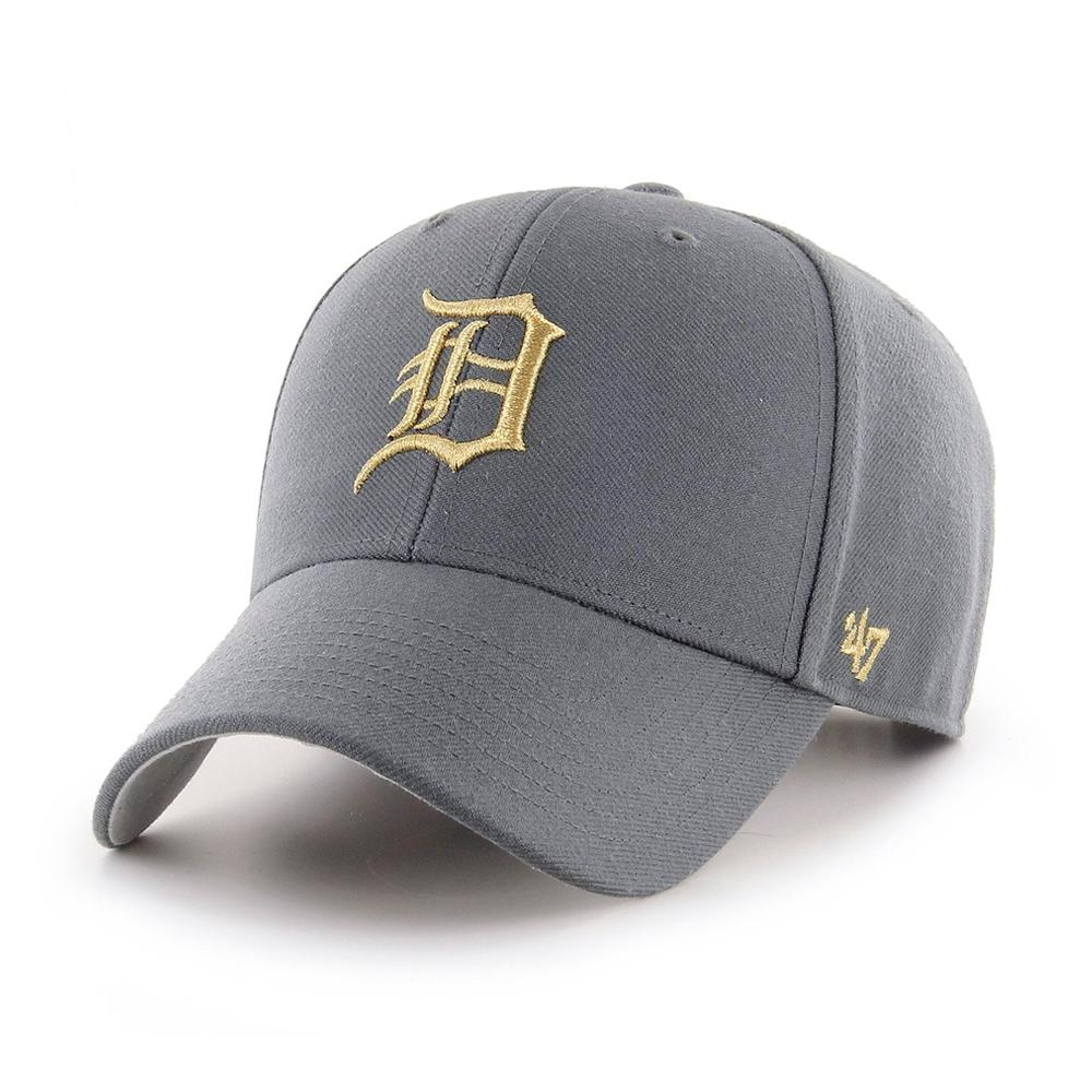 47 Brand - Detroit Tigers MVP Metallic - Snapback - Charcoal/Gold