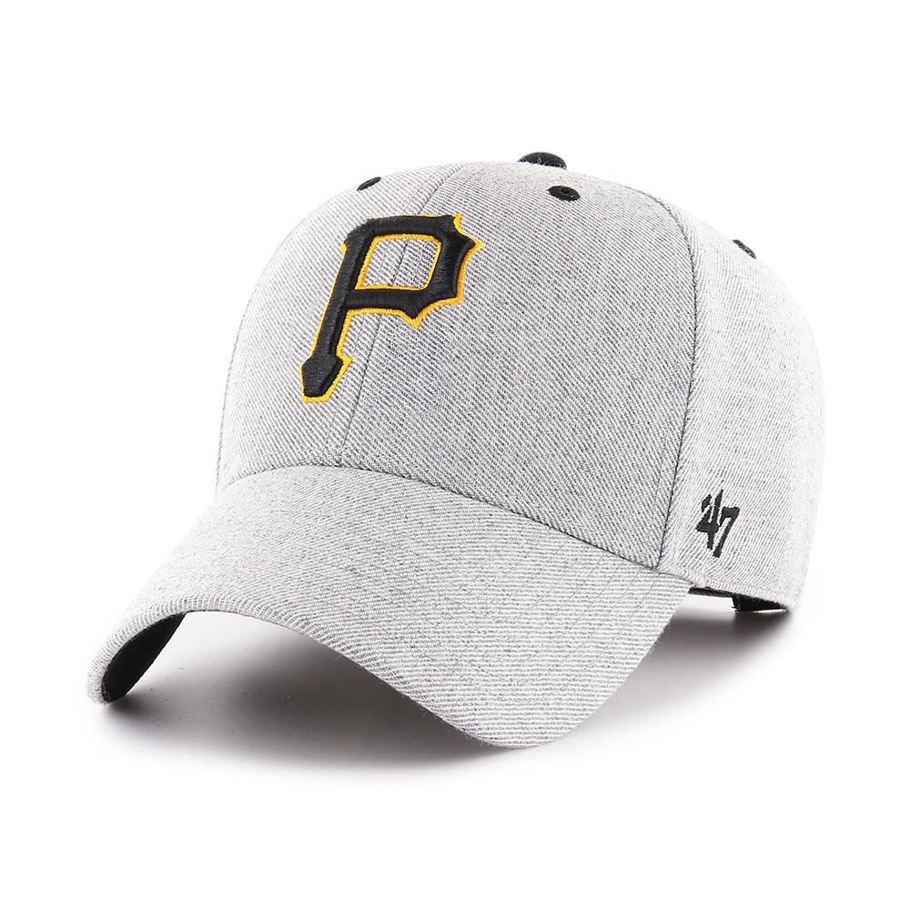 47 Brand - Pittsburgh Pirates MVP Storm Cloud - Adjustable - Charcoal/Black