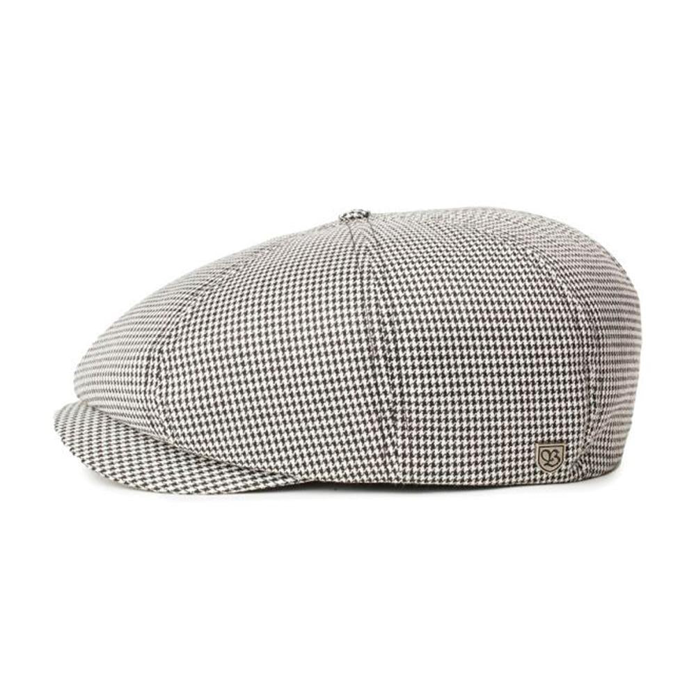 Brixton - Brood Snap Cap - Sixpence/Flat Cap - Black/Off White