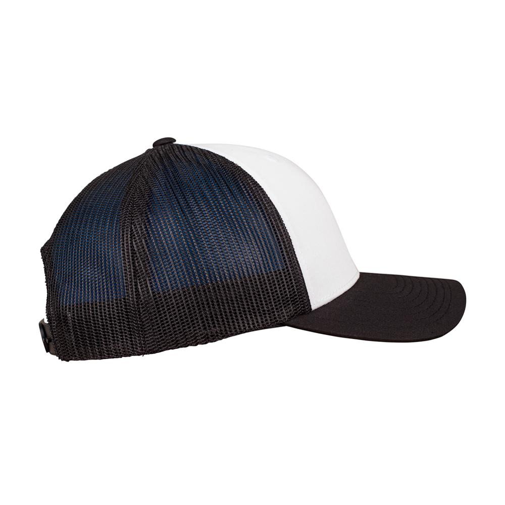 Flexfit - Retro Colored Front - Trucker/Snapback - Black/White