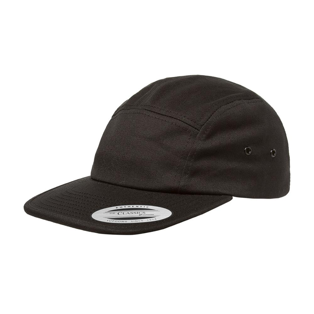 Yupoong - 5 Panel - Adjustable - Black