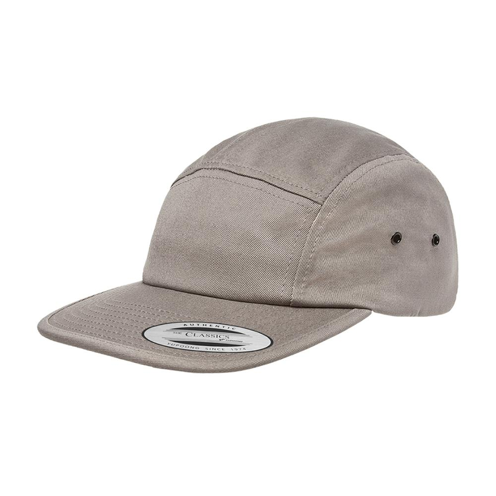 Yupoong - 5 Panel - Adjustable - Grey