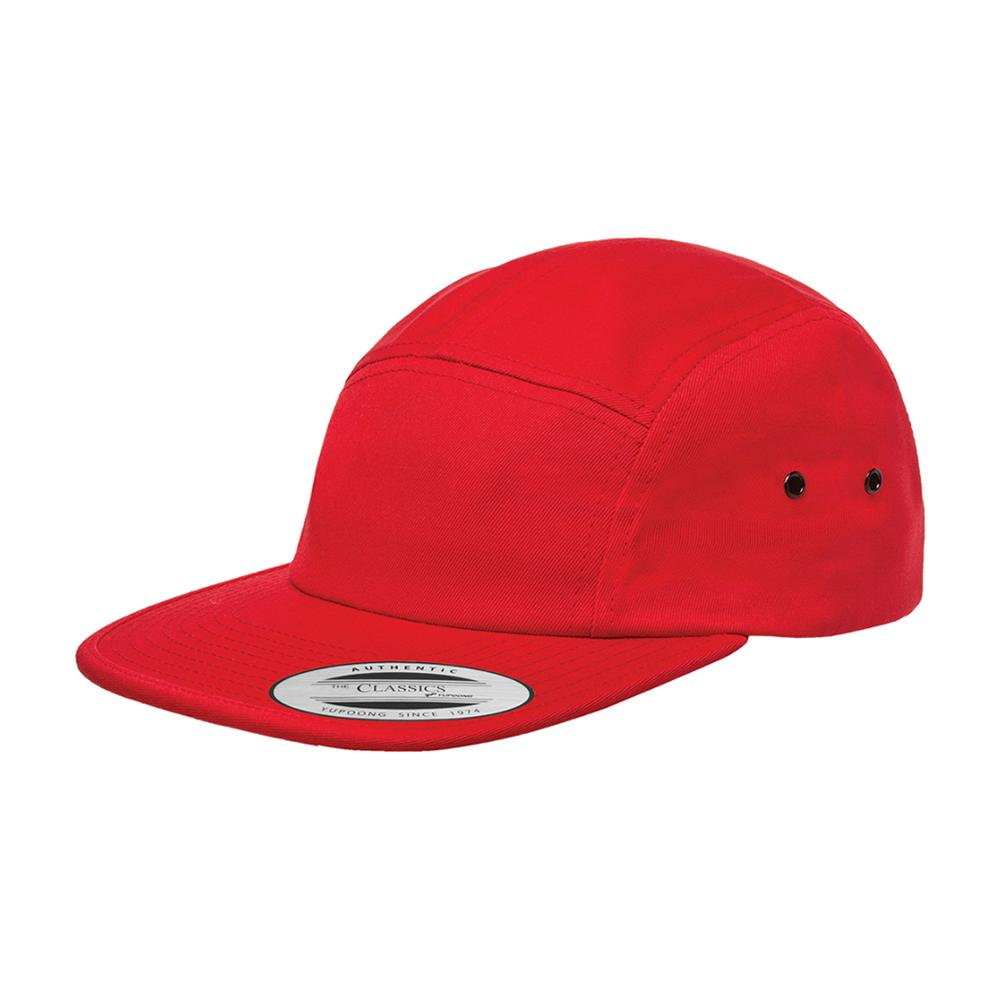 Yupoong - 5 Panel - Adjustable - Red
