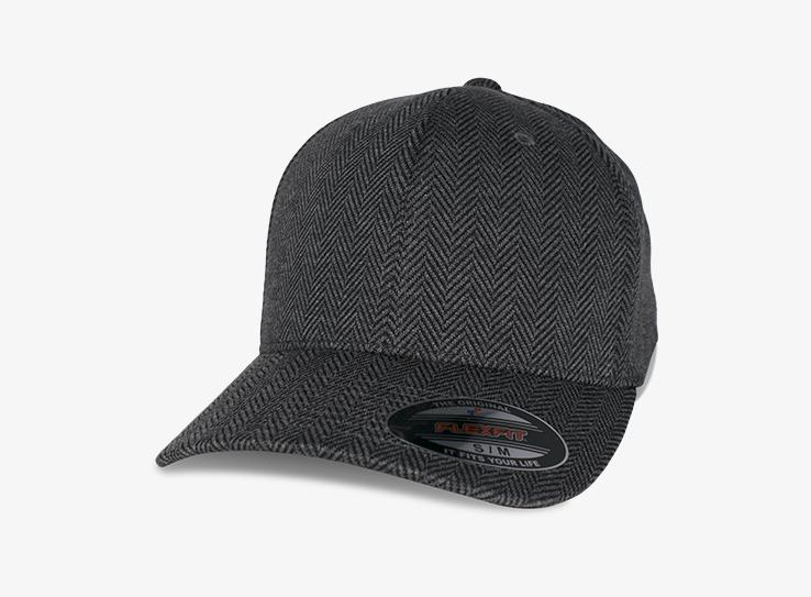 Flexfit - Baseball Herringbone - Flexfit - Black/Grey