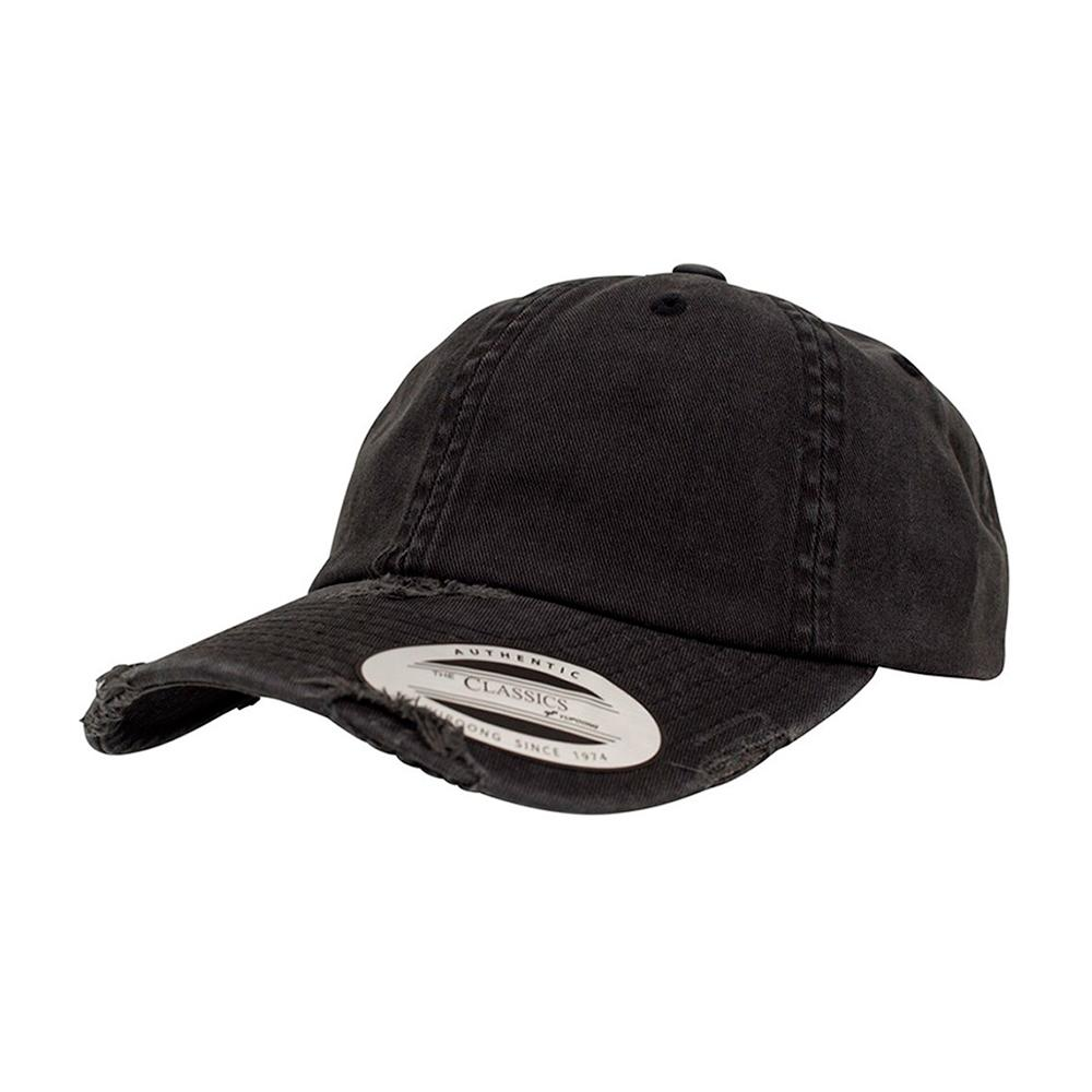 Yupoong - Dad Cap Special - Adjustable - Black Destroyed