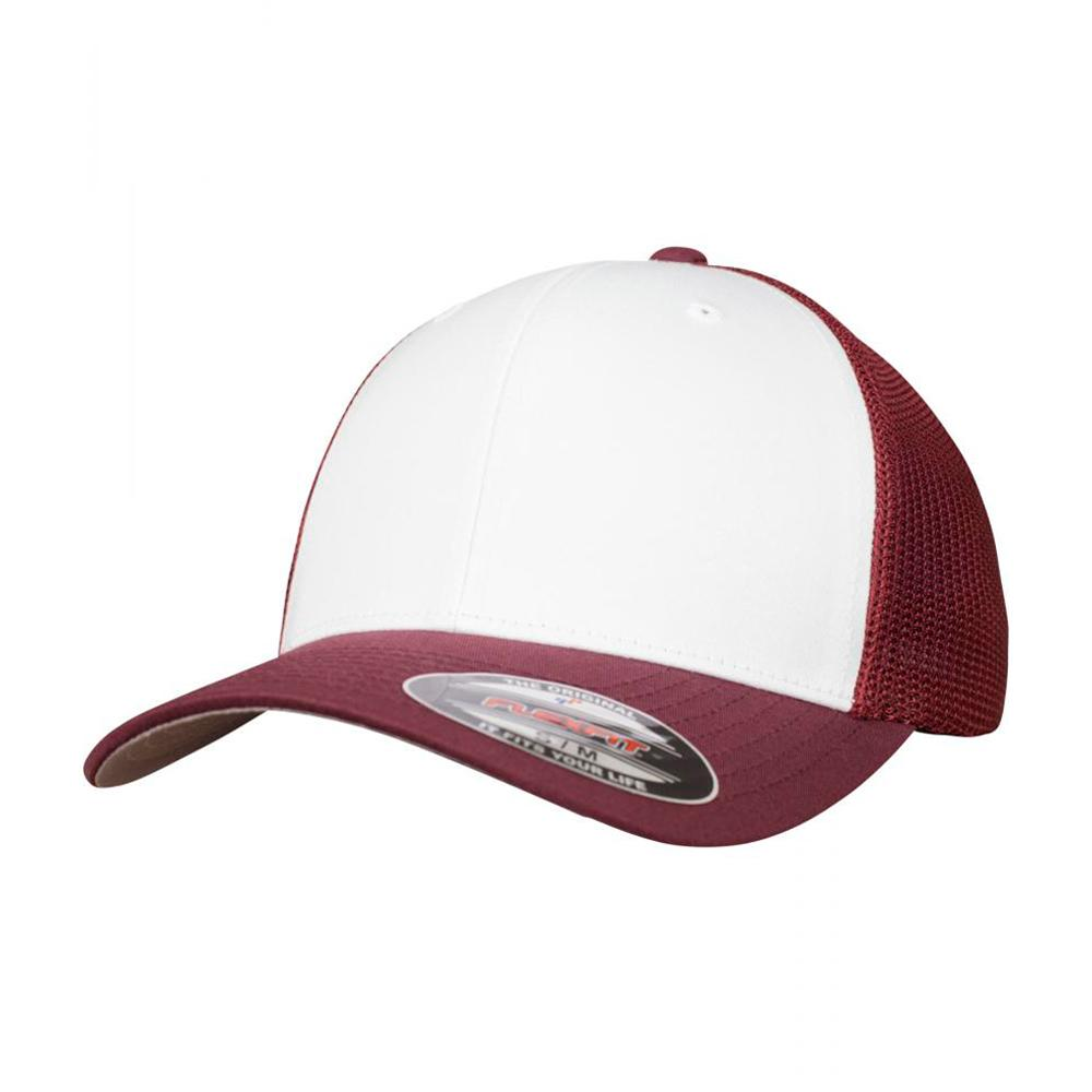 Flexfit - Mesh Colored Front - Flexfit - Maroon/White